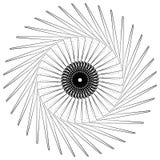 Geometric circle element, circle motif random edgy, angular line Stock Photography