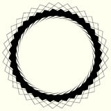 Geometric circle element, circle motif random edgy, angular line. S. Suitable as concentric design element, abstract motif, circular non-figural element Stock Photos