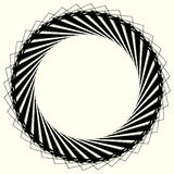 Geometric circle element, circle motif random edgy, angular line. S. Suitable as concentric design element, abstract motif, circular non-figural element Royalty Free Stock Photo