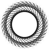 Geometric circle element, circle motif random edgy, angular line. S. Suitable as concentric design element, abstract motif, circular non-figural element Stock Photo