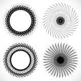 Geometric circle element, circle motif random edgy, angular line. S. Suitable as concentric design element, abstract motif, circular non-figural element Royalty Free Stock Image