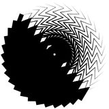 Geometric circle element made of overlapping edgy shapes. royalty free illustration