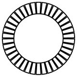 Geometric circle element made of radiating rectangles. Abstract Royalty Free Stock Photography
