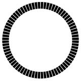 Geometric circle element made of radiating rectangles. Abstract Royalty Free Stock Photos