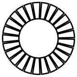 Geometric circle element made of radiating rectangles. Abstract Stock Image