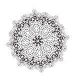 Geometric circle element . Mandala for decoration holiday cards, background and sites. Kaleidoscope, medallion, yoga Stock Photo