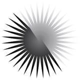 Geometric circle element of radial lines. Bursting lines merging Royalty Free Stock Photos