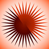 Geometric circle element of radial lines. Bursting lines merging Stock Photo