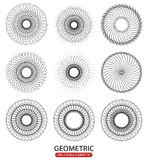 Geometric circle elements, abstract random circle shapes Stock Images