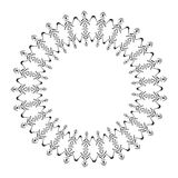 Geometric circle frame for tribal design. Royalty Free Stock Image