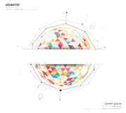 Geometric circle on white background with space to use text or h Stock Images
