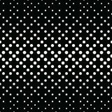 Geometric circles gradient halftone seamless black and white pattern. Background Stock Photo