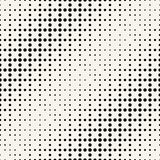 Geometric circles gradient halftone seamless black and white pattern. Background Royalty Free Stock Images
