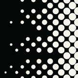 Geometric circles gradient halftone seamless black and white pattern. Background Royalty Free Stock Photography