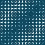 Geometric circles gradient halftone seamless blue pattern. Background Royalty Free Stock Images