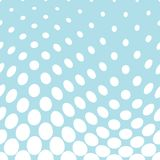 Geometric circles gradient halftone seamless blue pattern. Background Stock Images