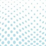 Geometric circles gradient halftone seamless blue pattern. Background Stock Photos