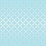 Geometric circles gradient halftone seamless blue pattern. Background Stock Image