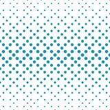 Geometric circles gradient halftone seamless blue pattern. Background Stock Photo