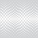 Geometric circles gradient halftone seamless subtle pattern. Background Stock Photo