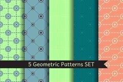 Geometric Circles Patterns Set Stock Photography