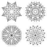 Geometric circular ornament set. Royalty Free Stock Photography