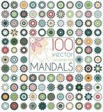 Geometric circular ornament set.  vector mandalas. Stock Images