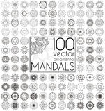Geometric circular ornament set.  vector mandalas. Stock Image