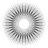 Geometric circular pattern. Abstract monochrome illustration ser Royalty Free Stock Images