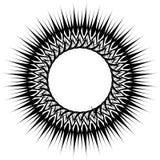 Geometric circular pattern. Abstract monochrome illustration ser Stock Photography