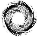 Geometric circular pattern. Abstract monochrome illustration ser Stock Image