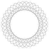 Geometric circular pattern. Abstract motif with radiating inters. Ecting lines royalty free illustration