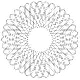 Geometric circular pattern. Abstract motif with radiating inters. Ecting lines vector illustration