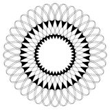 Geometric circular pattern. Abstract motif with radiating inters. Ecting lines stock illustration