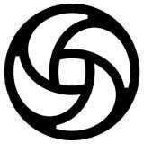Geometric circular - symmetric element, symbol for logos Stock Photography