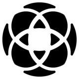 Geometric circular - symmetric element, symbol for logos Royalty Free Stock Images