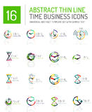 Geometric clock and time icon set Stock Images