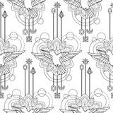 Geometric colibri seamless pattern Stock Photos
