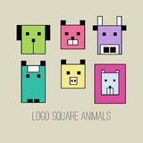 Geometric collection of animals Royalty Free Stock Image