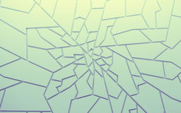 Geometric color abstract polygons wallpaper, as crack wall Royalty Free Stock Photos