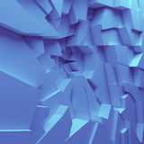 Geometric color abstract polygons wallpaper, as crack wall Stock Image