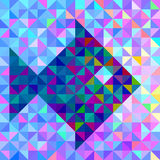 Geometric color background with stylised fish Stock Images