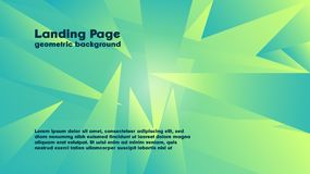 Geometric color background vector templates for landing page also suitable for magazine cover. And many other royalty free illustration