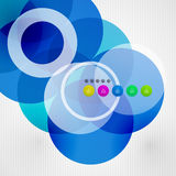 Geometric color circles modern template Stock Photography