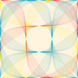 Geometric color pattern. Royalty Free Stock Image