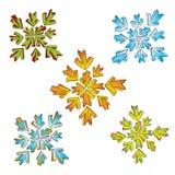 Geometric color shapes vectors Stock Image