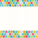 Geometric colored seamless border pattern Royalty Free Stock Photos