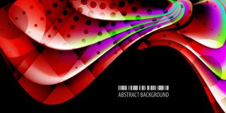Geometric colorful abstract 3D like background. Abstract colorful background graphics template with blended multiple 3D like objects royalty free illustration