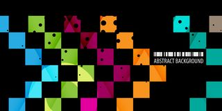 Geometric colorful abstract shape background template design layout royalty free illustration