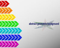 Geometric colorful background. Geometric background with empty space, colorful arrows vector EPS10 Royalty Free Stock Image